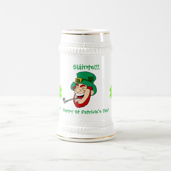 Laughing Leprechaun St Patrick's Day Beer Stein