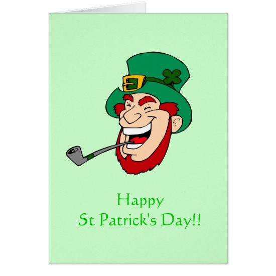 Laughing Leprechaun St Patrick's Day Card
