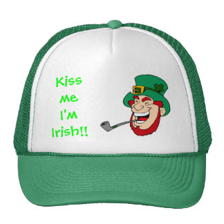 Laughing Leprechaun St Patrick's Day Trucker Hat
