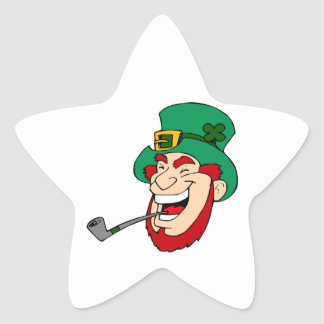 Laughing Leprechaun Star Sticker