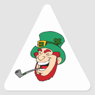 Laughing Leprechaun Triangle Sticker