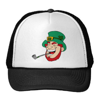 Laughing leprechaun trucker hat