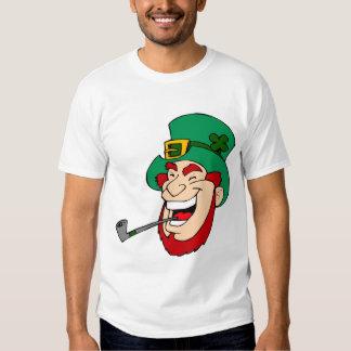 Laughing leprechaun with Saintpatrick hat T-Shirt