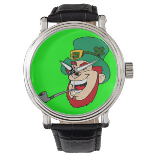 Laughing Leprechaun Wrist Watches