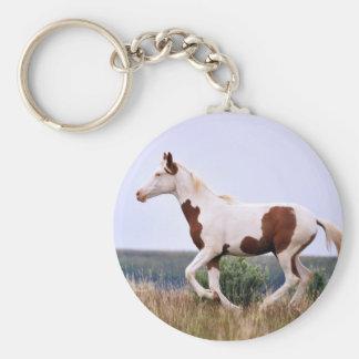 Laughing Maiden Basic Round Button Keychain