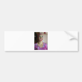 laughing mannequin car bumper sticker