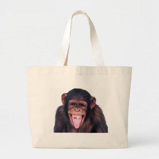Laughing Monkey Large Tote Bag