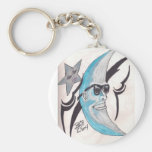 Laughing Moon Keychain