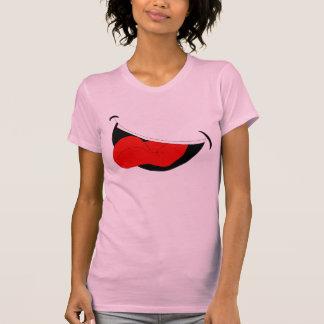 Laughing Mouth Women Pink T-Shirt