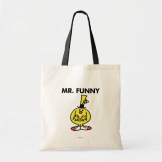 Laughing Mr. Funny With Flower Budget Tote Bag