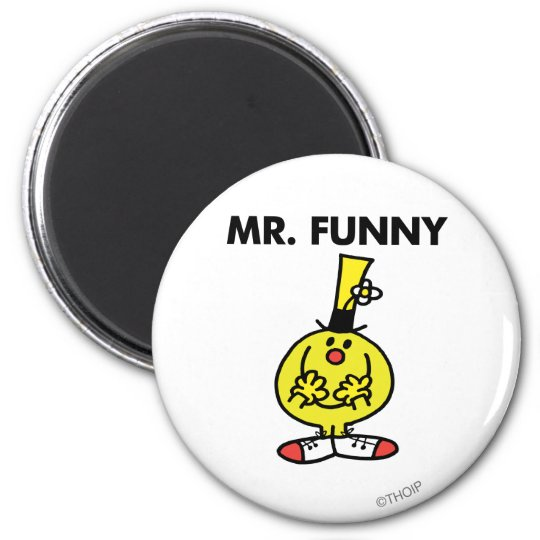 Laughing Mr. Funny With Flower Magnet