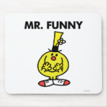 Laughing Mr. Funny With Flower Mouse Pad