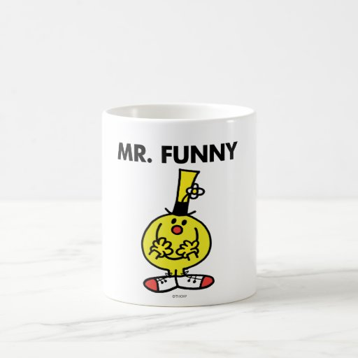 Laughing Mr. Funny With Flower Classic White Coffee Mug