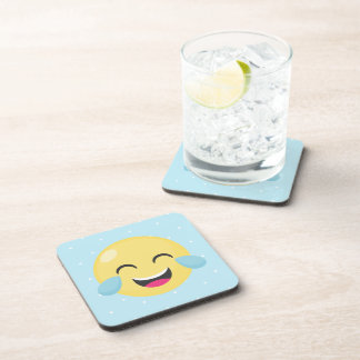 Laughing Out Loud Emoji Dots Coaster