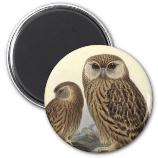 Laughing Owl Vintage Illustration 2 Inch Round Magnet