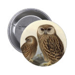 Laughing Owl Vintage Illustration Pin