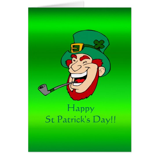 Laughing Paddy - St Patrick's Day Metallic Effect Card
