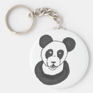 Laughing Panda Basic Round Button Keychain