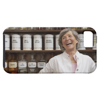 Laughing pharmacist standing in front of a shelf iPhone SE/5/5s case
