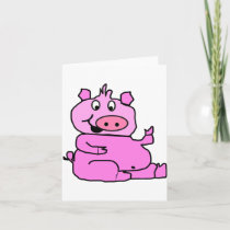 Laughing Pig Note Cards