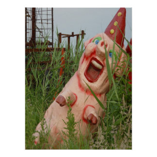 Laughing Pig Poster