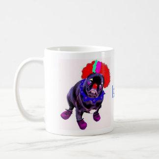 Laughing Pug Clown Mug