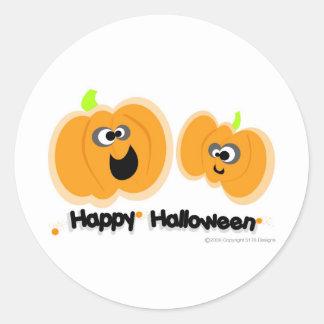 Laughing Pumpkins Classic Round Sticker