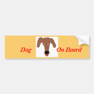 Laughing Puppy Bumper Sticker