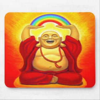 Laughing Rainbow Buddha Mousepad