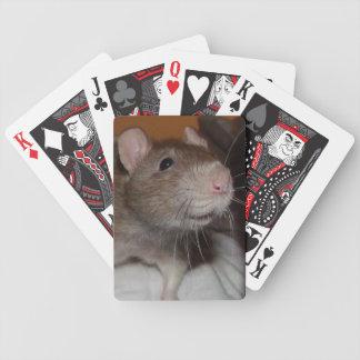 laughing rat playing cards