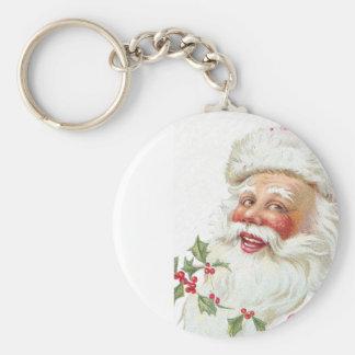 Laughing Santa Claus Vintage 1912 Xmas Keychain