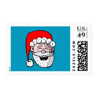 Laughing Santa Head Postage