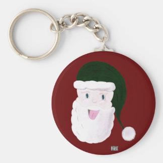 Laughing Santa Keychain (Green)