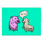 Laughing Sheep Stationery Note Card