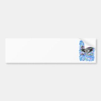 Laughing Skeleton Woman in  Bonnet Bumper Stickers