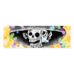 Laughing Skeleton Woman in  Bonnet Business Card