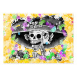 Laughing Skeleton Woman in  Bonnet Business Cards