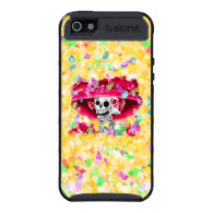 Laughing Skeleton Woman in Red Bonnet Case For iPhone 5