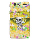 Laughing Skeleton Woman in Yellow Bonnet Droid RAZR Cover