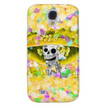 Laughing Skeleton Woman in Yellow Bonnet HTC Vivid Case