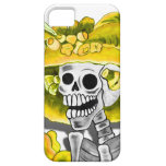 Laughing Skeleton Woman in Yellow Bonnet iPhone 5 Cases