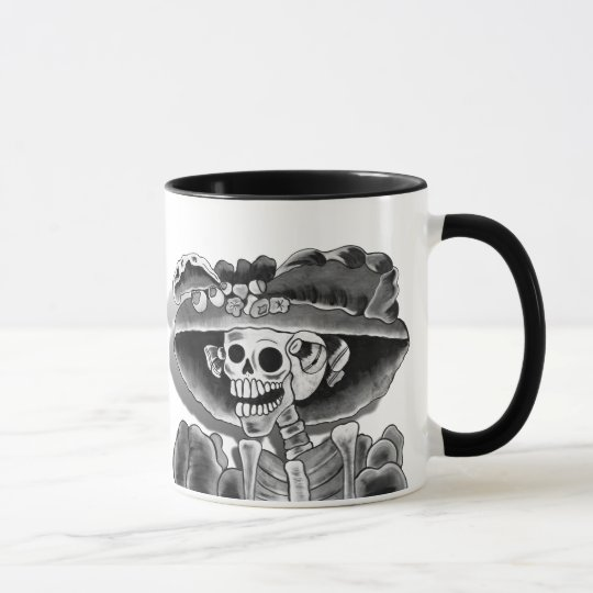 Laughing Skeleton Woman Mug