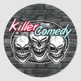 Laughing Skulls: Killer Comedy Classic Round Sticker