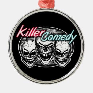 Laughing Skulls: Killer Comedy Metal Ornament