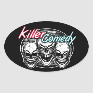 Laughing Skulls: Killer Comedy Oval Sticker