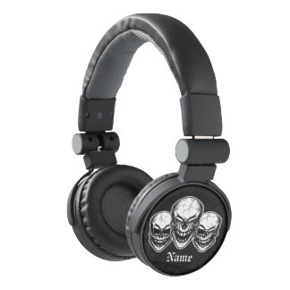 Laughing Skulls Personalized Headphones