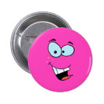 Laughing Smiley Face 2 Inch Round Button