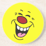 Laughing Smiley Face Grumpey Coaster