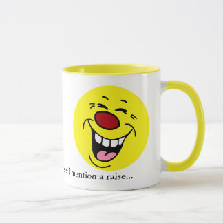 Laughing Smiley Face Grumpey Mug