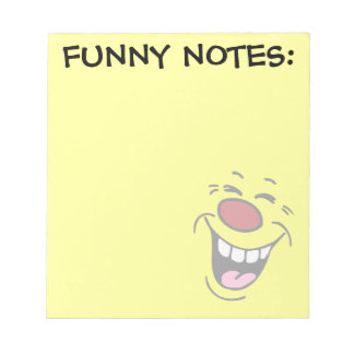 Laughing Smiley Face Grumpey Notepad